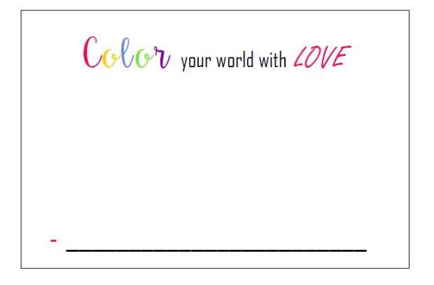 Color Your World With Love